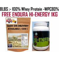 8Lbs-Whey Protein Concentrate WPC80%:-Unflavored -FREE ANS GLUCOSE 1KG WORTH 400