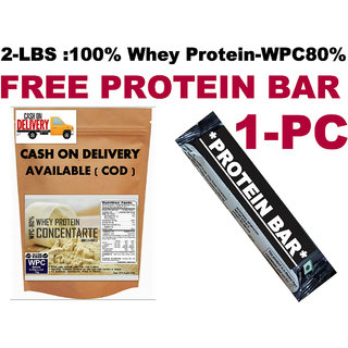 2Lbs-Whey Protein Concentrate WPC35%-FREE PROTEIN BAR 1-PC 100 RS