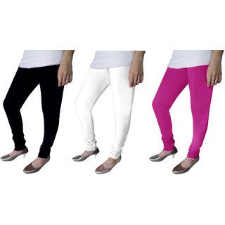 Michigan Multi Color Cotton Leggings - Combo Of 3