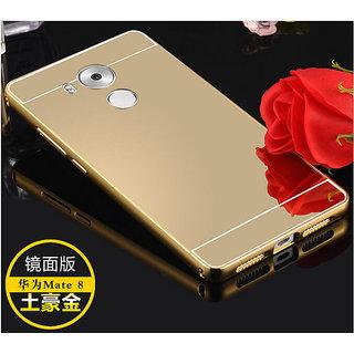 Aluminum Metal Bumper + PC Mirror Back Cover Case For Huawei Mate 8