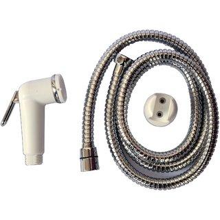 SSS-Health Faucet Complete Set(PVC Gun  Hook, SS Flexible Chain(1.25Meter))