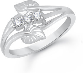 VK Jewels Silver Alloy Silver Plated Ring For Women