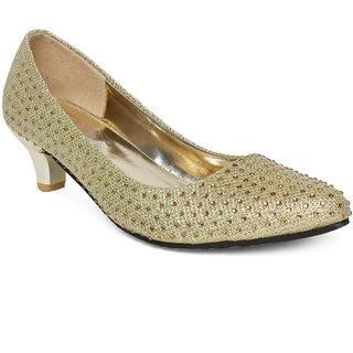 Vendoz Women's Gold Heels