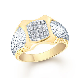 VK Jewels Gold Alloy Gold Plated Ring For Men