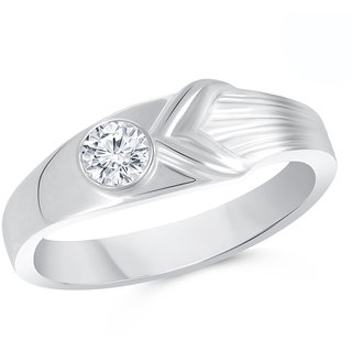 VK Jewels Silver Alloy Gold Plated Ring For Men