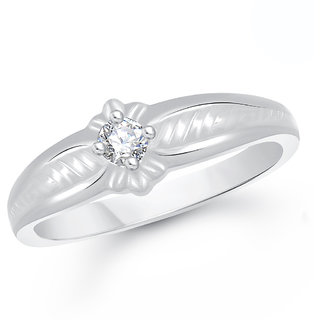 VK Jewels Silver Alloy Silver Plated Ring For Men