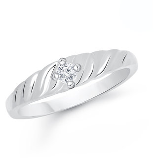 VK Jewels Silver Alloy Gold Plated Ring For Women