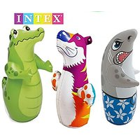 3D Bop Bag Blow Up Inflatable Toy Alligator, Shark  Tig - 106505981