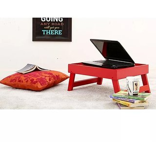 Wooden High Quality Laptop Table Foldable Laptop Table (Red) Size(lxbxh-17.8 x14.5 x 8.3 )inch