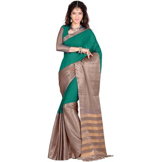 kanak new designer sky blue color cotton saree