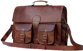 Craftsmen Leather Messenger bag cum laptop backpack V andy 2 pocket