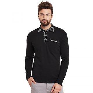 1fb4e2f78f65 Buy Hypernation Solid Men s Polo Neck T-shirt HYPM01159 Online - Get 19% Off