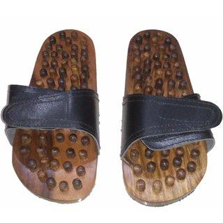 Wooden Foot Massage Slipper