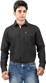 Relish Black Button Down Full sleeves Formal Shirt For Men's