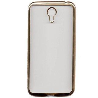 Golden Crome soft Back Cover For Lenovo Zuk Z1- Gold Transparent