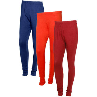 IndiWeaves Women Warm Wollen Lycra Legging (Pack of 3)