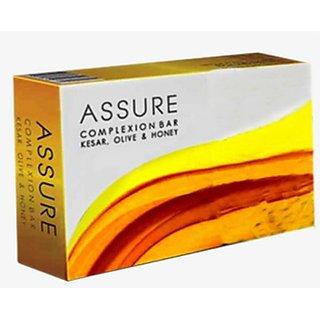 ASSURE COMPLEXION BAR (KESAR, HONEY  OLIVE) pack of 3