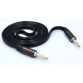 GRIFFIN Flat 3.5mm Male To Male AUX Audio Stereo Cable ( 1M ) Black