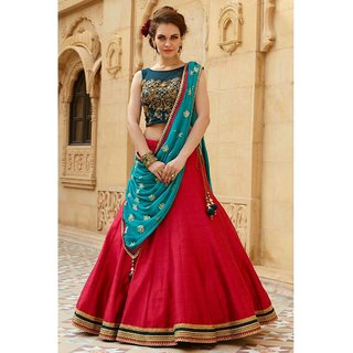 051aaa4cfac143 Style Lehenga Choli 88411 Tap to expand Source · Buy Red Embrioderywork Banglory  Silk Bollywood Style Lehenga Choli
