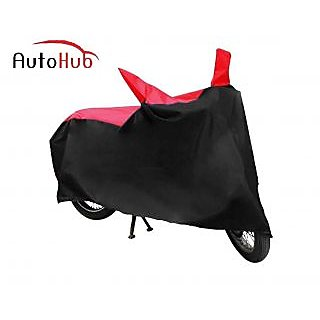 Autohub Body Cover Without Mirror Pocket Perfect Fit For Suzuki Slingshot (Disc) - Black  Red Colour