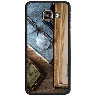 Fuson Designer Phone Back Case Cover Samsung Galaxy A7 2016 Printed For ( Unread Book Glasses And Clock )