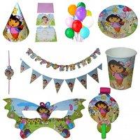 PEPUP Dora Themed Kids Birthday Party Decoration Combo