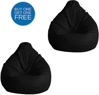 UK Bean Bags Classic Bean Bag Cover Black Size XL (Buy1 Get1)