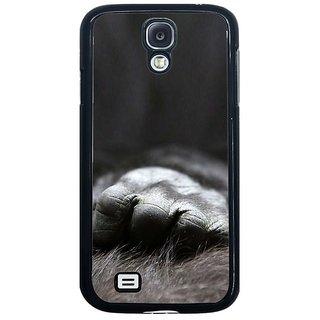 Fuson Black Designer Phone Back Cover Samsung Galaxy S4 I9500 (Hand Of Chimp)