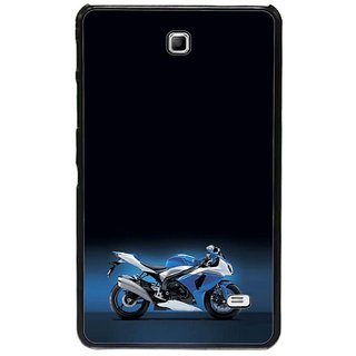 Fuson Black Designer Phone Back Cover Samsung Galaxy Tab 4 (The Blue Bike On Display)