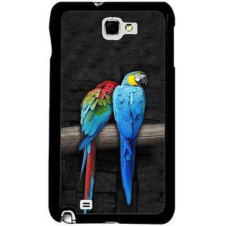 Fuson Grey Designer Phone Back Cover Samsung Galaxy S5 (Parrots Sitting A Branch)