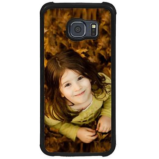 Fuson Brown Designer Phone Back Cover Samsung Galaxy S6 G920I (Small Girl Looking Up)