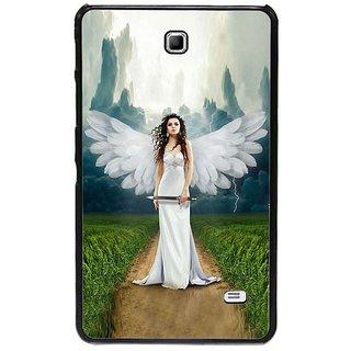 Fuson Multi Designer Phone Back Cover Samsung Galaxy Tab 4 (Wings Of The Angel)