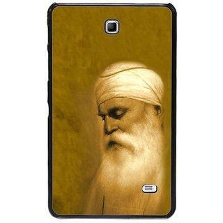 Fuson Golden Designer Phone Back Cover Samsung Galaxy Tab 4 (Guru Nanak Dev Ji)