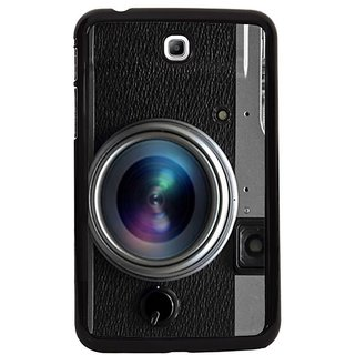 Fuson Black Designer Phone Back Cover Samsung Galaxy Tab 3 (The Camera And Its Lens)
