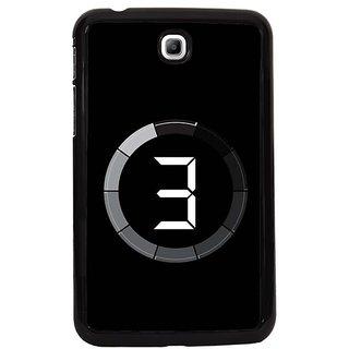 Fuson Black Designer Phone Back Cover Samsung Galaxy Tab 3 (After Ages)