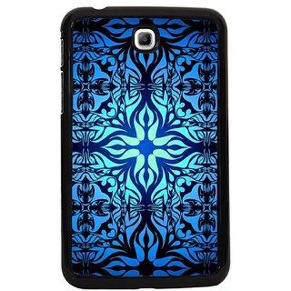 Fuson Blue Designer Phone Back Cover Samsung Galaxy Tab 3 (A Classic Curvy Symmetrical Pattern)