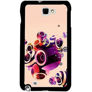 Fuson Purple Designer Phone Back Cover Samsung Galaxy S5 (Abstract Design On Peach Background)