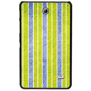 Fuson Blue Designer Phone Back Cover Samsung Galaxy Tab 4 (Green And Blue Vertical Stripes)
