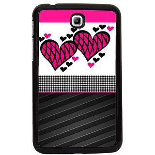Fuson Black Designer Phone Back Cover Samsung Galaxy Tab 3 (Fall In Love Today)