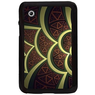 Fuson Brown Designer Phone Back Cover Samsung Galaxy Tab 2 (Stand Different From Others)