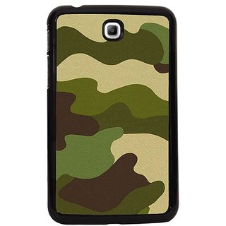 Fuson Black Designer Phone Back Cover Samsung Galaxy Tab 3 (Cool Army Camouflage Pattern)