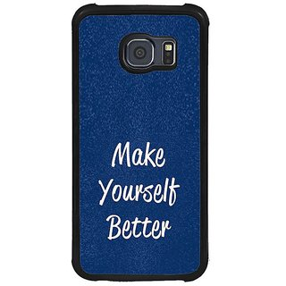 Fuson Blue Designer Phone Back Cover Samsung Galaxy S6 G920I (Words Of Self Motivation)