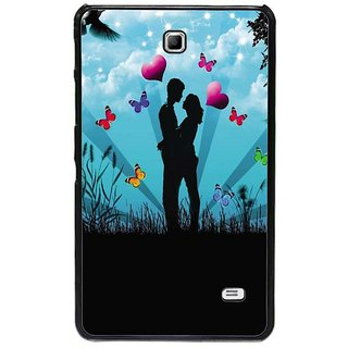 Fuson Blue Designer Phone Back Cover Samsung Galaxy Tab 4 (A Couple Madly In Love)