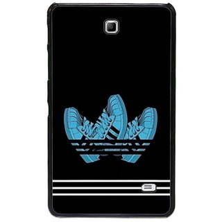 Fuson Blue Designer Phone Back Cover Samsung Galaxy Tab 4 (Run Your Life Out)