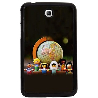 Fuson Yellow Designer Phone Back Cover Samsung Galaxy Tab 3 (Children And Fun)