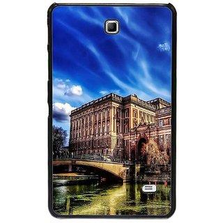 Fuson Blue Designer Phone Back Cover Samsung Galaxy Tab 4 (Old Is Gold)