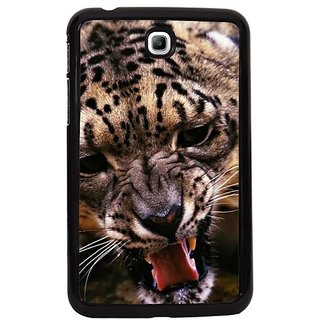 Fuson Orange Designer Phone Back Cover Samsung Galaxy Tab 3 (Leopard That Growls)