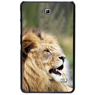 Fuson Green Designer Phone Back Cover Samsung Galaxy Tab 4 (Lion Out In The Jungle)