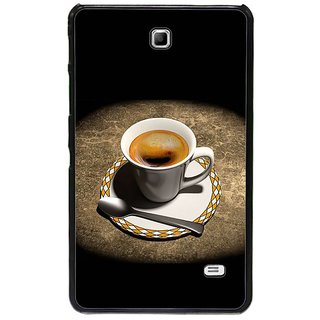 Fuson Brown Designer Phone Back Cover Samsung Galaxy Tab 4 (Coffee In Cup And Saucer)