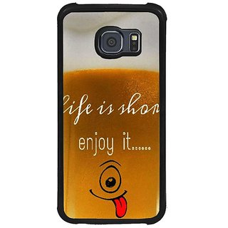 Fuson Brown Designer Phone Back Cover Samsung Galaxy S6 G920I (Glass With A Smile)